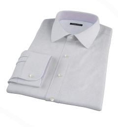 Thomas Mason Goldline Blue Tattersall Fitted Shirt