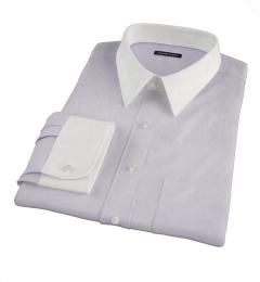 Lavender Wrinkle Resistant Mini Herringbone Fitted Dress Shirt