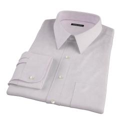 Thomas Mason Lavender Pinpoint Tailor Made Shirt