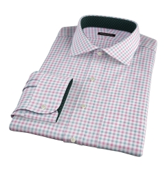 Thomas Mason Scarlet and Pine Multi Check Fitted Shirt
