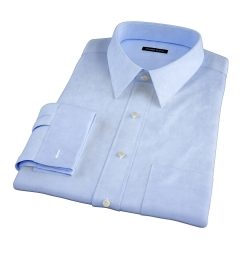 Blue 100s End-on-End Dress Shirt