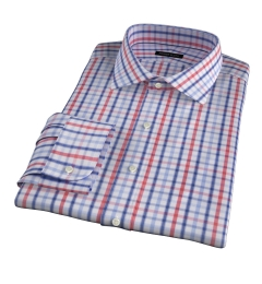 Catskill 100s Crimson Multi Check Tailor Made Shirt