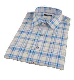 Yellow and Blue Organic Madras Short Sleeve Shirt