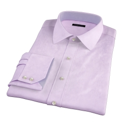 Lavender Wrinkle-Resistant Cavalry Twill Men's Dress Shirt