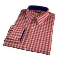 Terra Cotta 120s Check Custom Dress Shirt