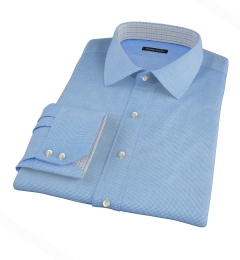Morris Blue Wrinkle-Resistant Houndstooth Fitted Dress Shirt