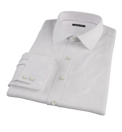 Light Pink Micro Grid Fitted Dress Shirt