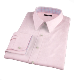 Hudson Pink Wrinkle-Resistant Twill Custom Dress Shirt