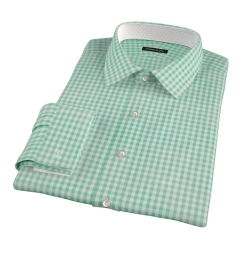 Medium Light Green Gingham Tailor Made Shirt