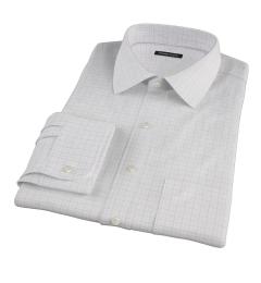 Mercer Red Twill Check Men's Dress Shirt