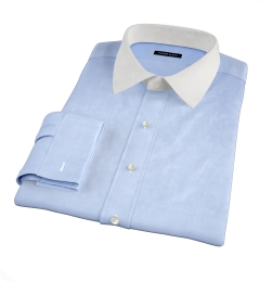 Sky Blue Wrinkle-Resistant Cavalry Twill Custom Made Shirt