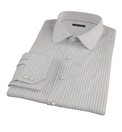 Japanese Lavender and Grey Stripe Men's Dress Shirt