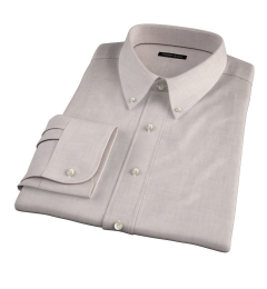 Bleecker Beige Melange Fitted Dress Shirt