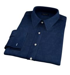 Navy Cotton Linen Oxford Dress Shirt
