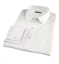 Thomas Mason White WR Imperial Twill Fitted Dress Shirt