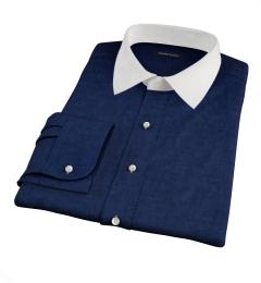 Bleecker Navy Melange Tailor Made Shirt
