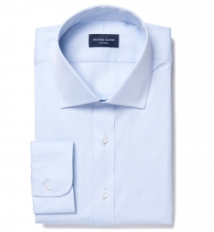 Thomas Mason Light Blue Pinpoint Tailor Made Shirt
