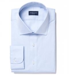 Thomas Mason Light Blue Pinpoint Tailor Made Shirt