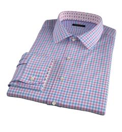 Thomas Mason Hibiscus Multi Check Custom Dress Shirt