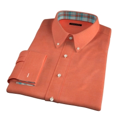 Canclini Pumpkin Beacon Flannel Men's Dress Shirt