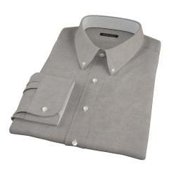 Black Heavy Oxford Cloth Tailor Made Shirt