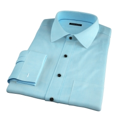Genova 100s Aqua End-on-End Custom Made Shirt