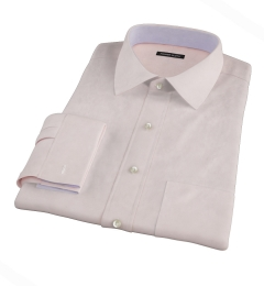 Bowery Peach Wrinkle-Resistant Pinpoint Custom Made Shirt