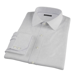 Bowery Light Grey Pinpoint Men's Dress Shirt
