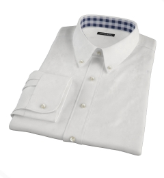 White Peached Heavy Oxford Men's Dress Shirt