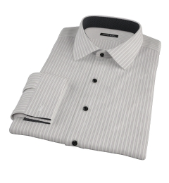 Japanese Lavender and Grey Stripe Custom Made Shirt