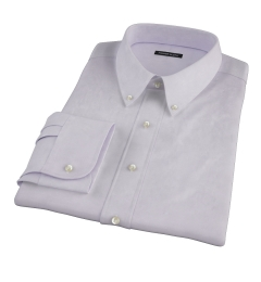 Lavender Wrinkle Resistant Cavalry Twill Fitted Dress Shirt