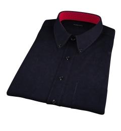 Black Heavy Oxford Short Sleeve Shirt