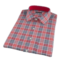 Rust Dock Street Flannel Short Sleeve Shirt