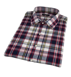 Dorado Navy Plaid Short Sleeve Shirt