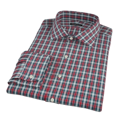 Red and Blue Block Plaid Custom Dress Shirt