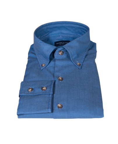 Crosby Light Blue Denim Fitted Dress Shirt