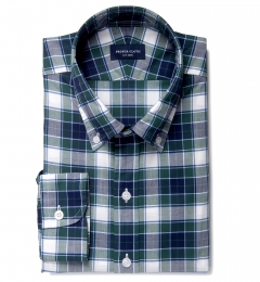 Warren Green Large Plaid Custom Made Shirt