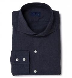 Slate Blue Heathered Flannel Custom Made Shirt