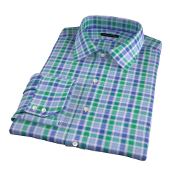 Green Large Multi Check Dress Shirt