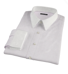 Pink University Stripe Heavy Oxford Custom Dress Shirt