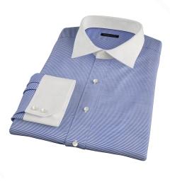 Carmine Blue Horizontal Stripe Fitted Shirt