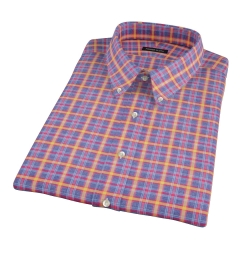 Yellow Blue Lewis Plaid Flannel Short Sleeve Shirt