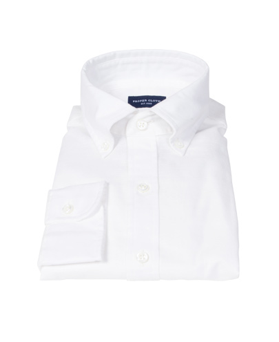Natural White Cotton Linen Fitted Dress Shirt