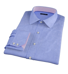 Canclini Dark Blue End on End Fitted Dress Shirt