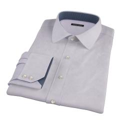 Lavender Wrinkle Resistant Mini Herringbone Dress Shirt