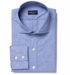 Canclini Dark Blue End on End Men's Dress Shirt