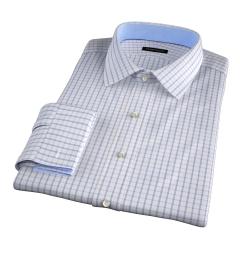Cooper Pink on Blue Check Custom Dress Shirt