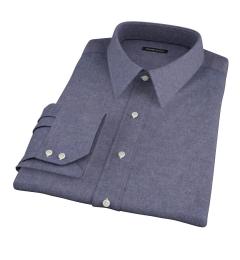 Slate Blue Heathered Flannel Men's Dress Shirt