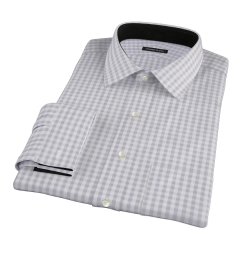 Canclini Grey Gingham Fitted Shirt