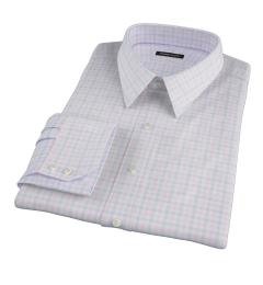 Thomas Mason Pink Multi Check Custom Made Shirt